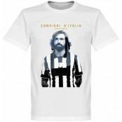 Juventus T-shirt Winners 2015 Pirlo Campioni DItalia Andrea Pirlo Vit XS