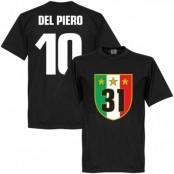 Juventus T-shirt Winners 31 Campione  Del Piero 10 Alessandro Del Piero Svart XS