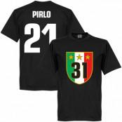 Juventus T-shirt Winners 31 Campione  Pirlo 21 Andrea Pirlo Svart XS