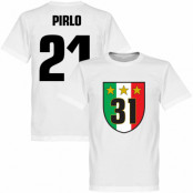 Juventus T-shirt Winners 31 Campione  Pirlo 21 Andrea Pirlo Vit XS