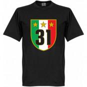 Juventus T-shirt Winners 31 Campione Svart XS