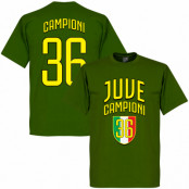 Juventus T-shirt Winners Juve Campioni 36 Grön S