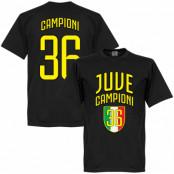 Juventus T-shirt Winners Juve Campioni 36 Svart XS