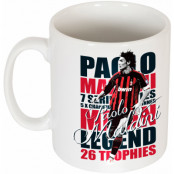 Milan Mugg Legend Paolo Maldini Vit