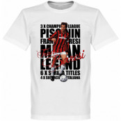 Milan T-shirt Legend Franco Baresi Legend Vit XS