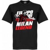Milan T-shirt Legend Inzaghi Legend Svart XS