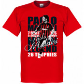 Milan T-shirt Legend Legend Paolo Maldini Röd XS
