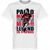 Milan T-shirt Legend Legend Paolo Maldini Vit XS