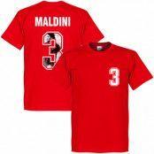 Milan T-shirt Maldini 3 Gallery Paolo Maldini Röd M