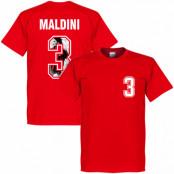 Milan T-shirt Maldini 3 Gallery Paolo Maldini Röd XS