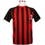 Milan T-shirt Randig Röd-svart M