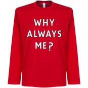 Milan T-shirt Why Always Me Long Sleeve Mario Balotelli Röd S