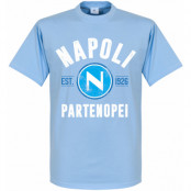 Napoli T-shirt Established Ljusblå XS