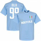 Napoli T-shirt Milik Ljusblå XS